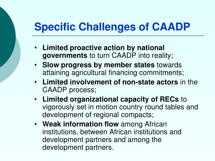 Specific Challenges of CAADP