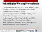 suitability for working professionals
