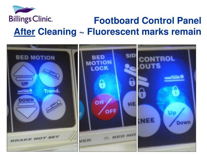 Footboard Control Panel
