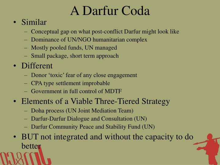 A Darfur Coda