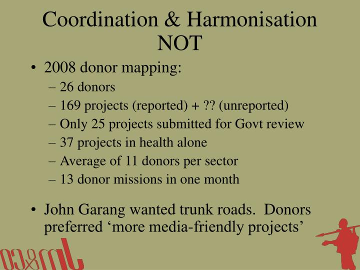 Coordination & Harmonisation NOT