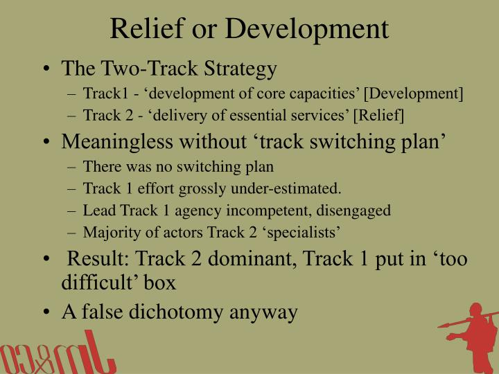 Relief or Development