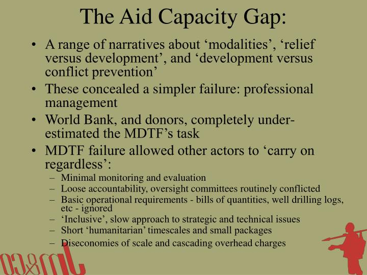 The Aid Capacity Gap: