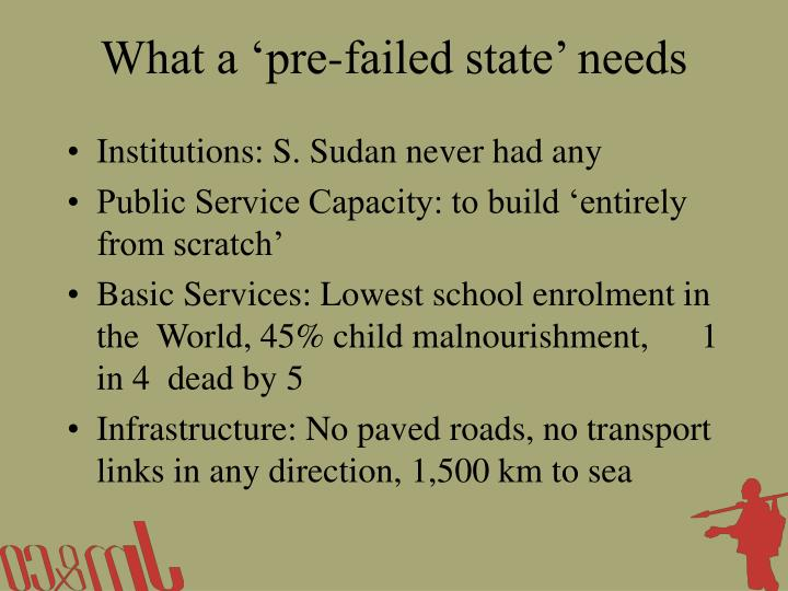 What a 'pre-failed state' needs