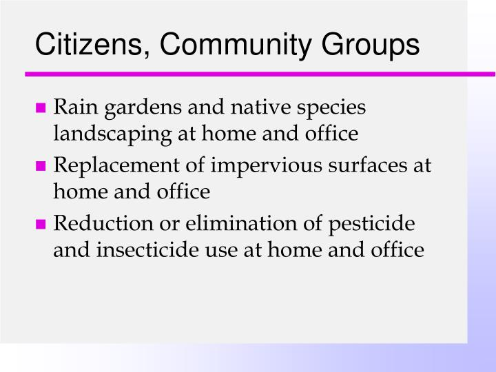 Citizens, Community Groups