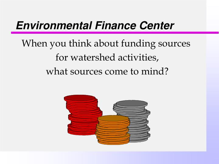 Environmental finance center1