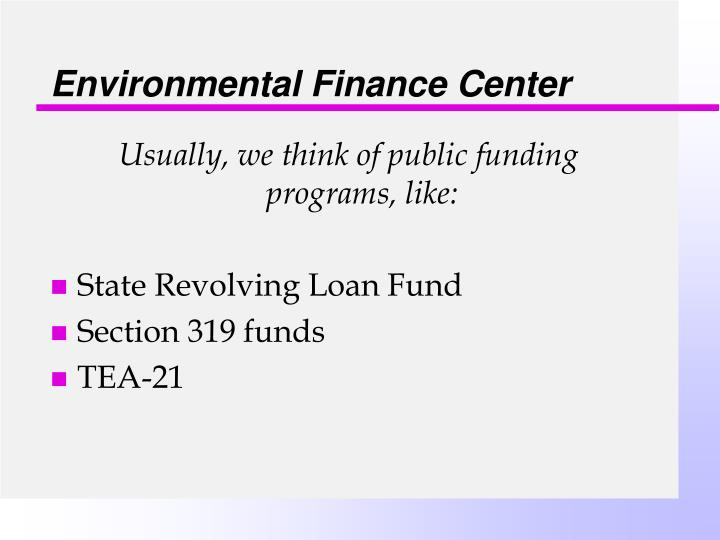 Environmental finance center2