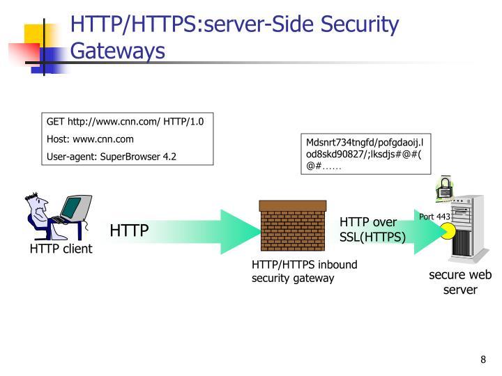 HTTP/HTTPS:server-Side Security Gateways