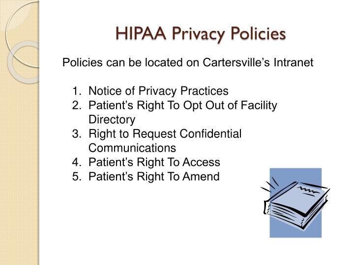 HIPAA Privacy Policies