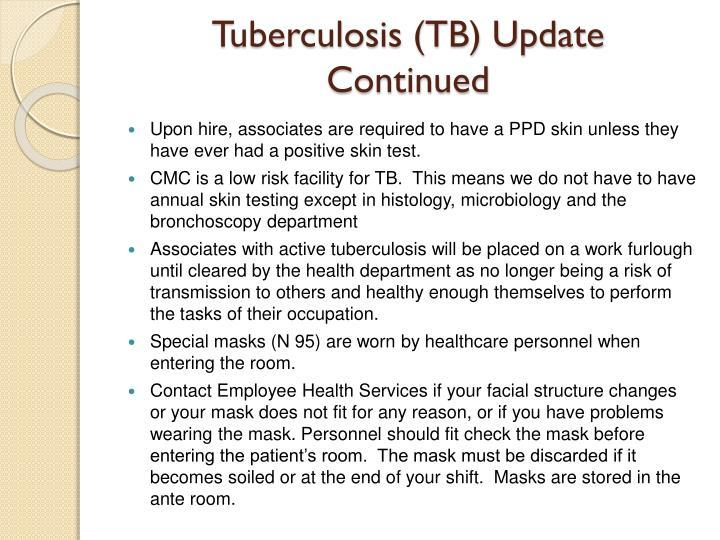 Tuberculosis (TB) Update