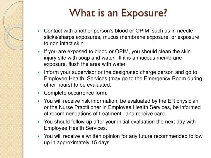 What is an Exposure?