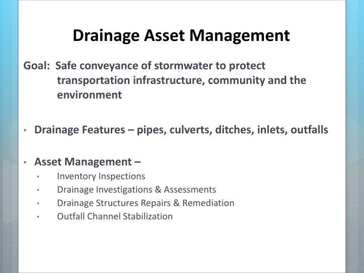 Drainage Asset Management
