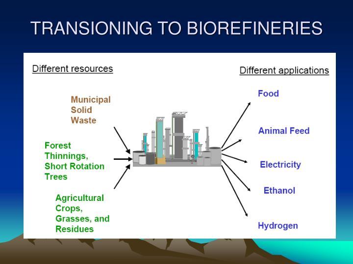 TRANSIONING TO BIOREFINERIES