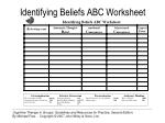 identifying beliefs abc worksheet