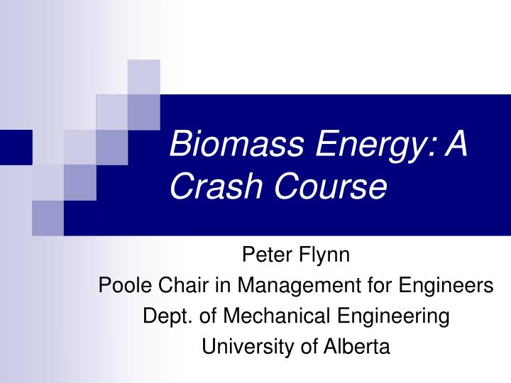 biomass energy a crash course n.