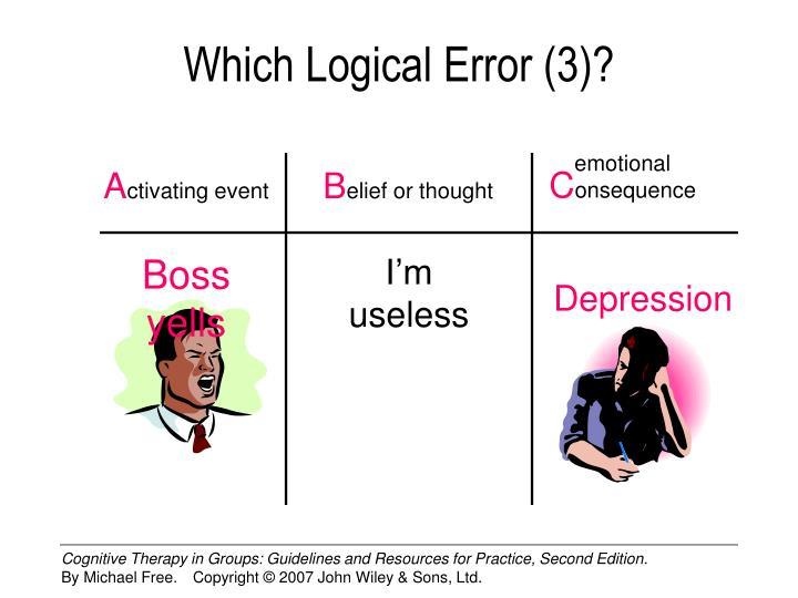 Which Logical Error (3)?