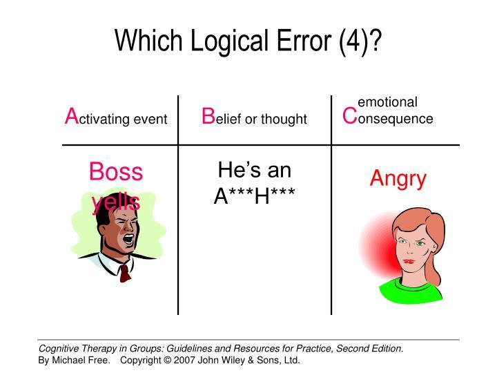 Which Logical Error (4)?
