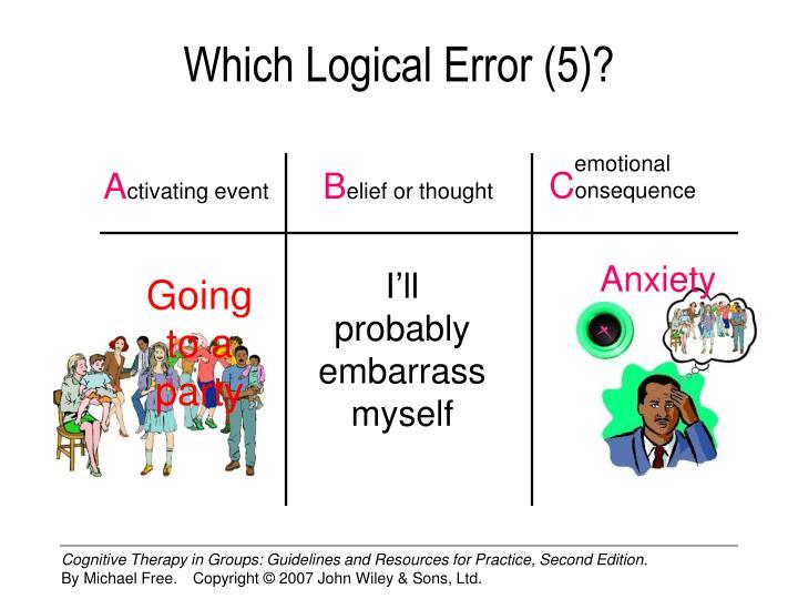 Which Logical Error (5)?