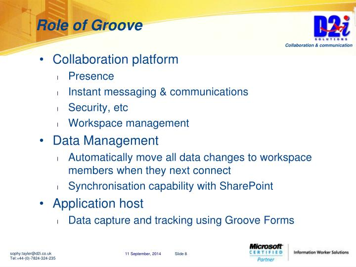 Role of Groove