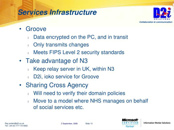 Services Infrastructure