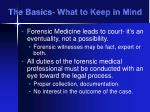 the basics what to keep in mind