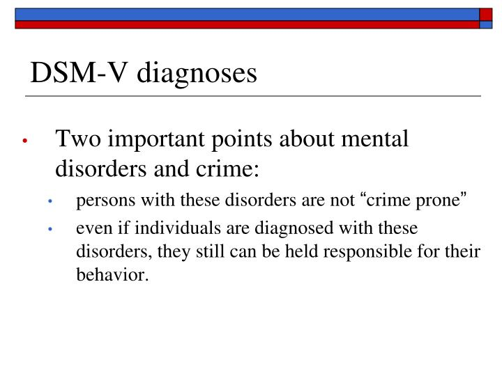 DSM-V diagnoses