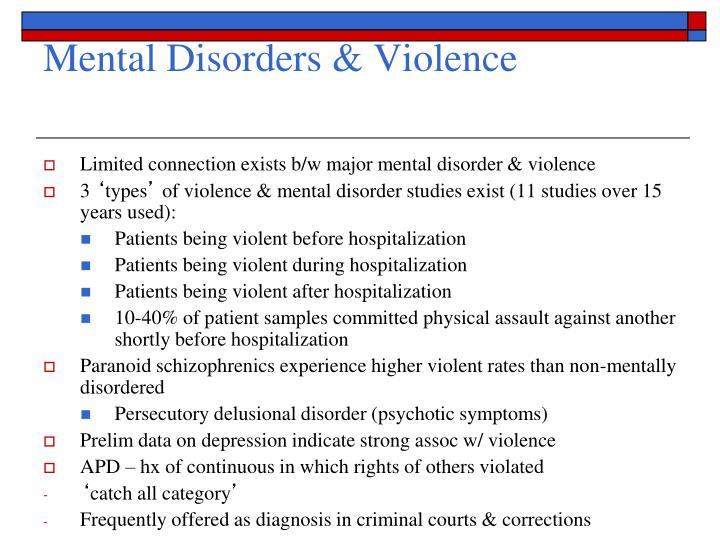 Mental Disorders & Violence