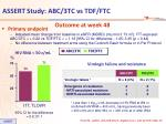 assert study abc 3tc vs tdf ftc2