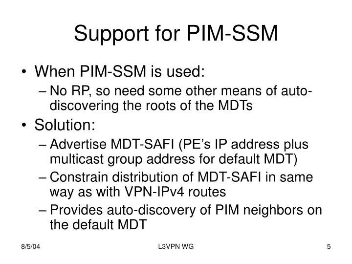 Support for PIM-SSM