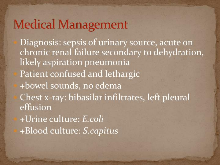 Medical Management