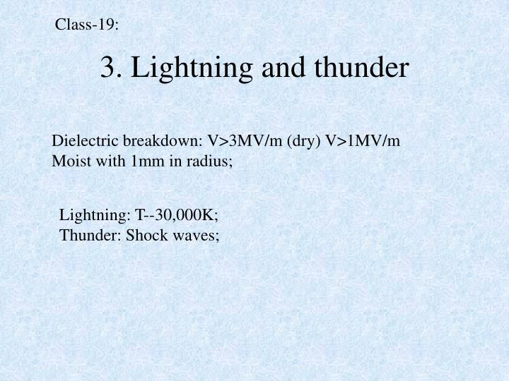 3 lightning and thunder
