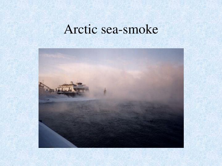 Arctic sea-smoke