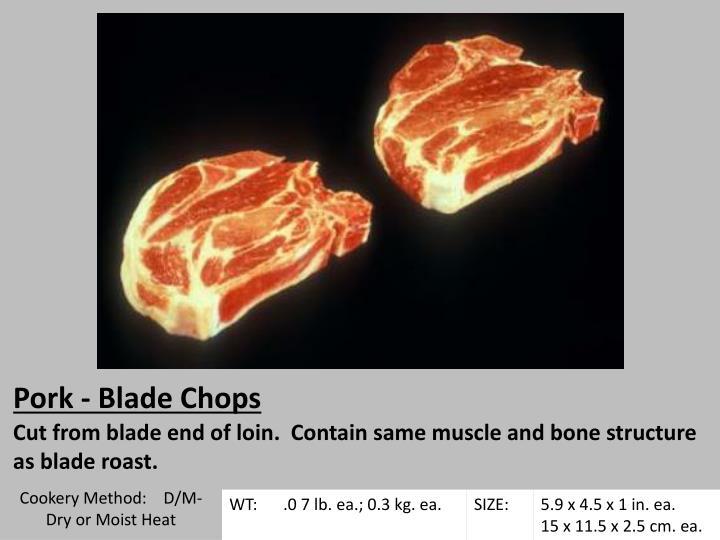 Pork - Blade Chops