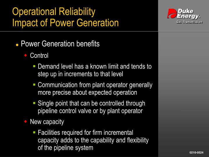 Operational Reliability