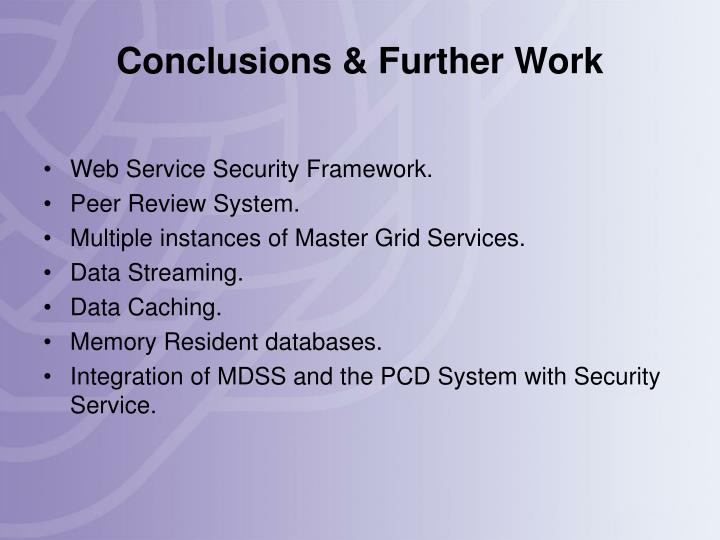 Conclusions & Further Work