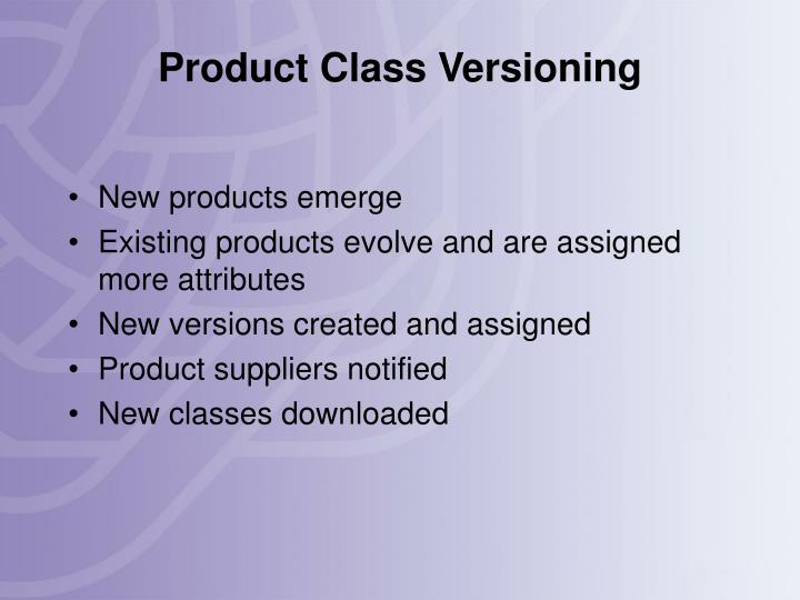 Product Class Versioning