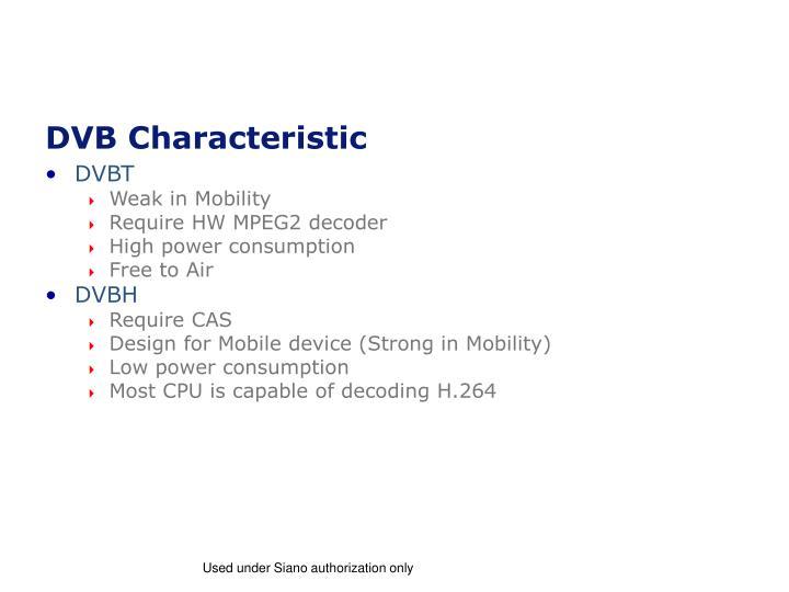 DVB Characteristic