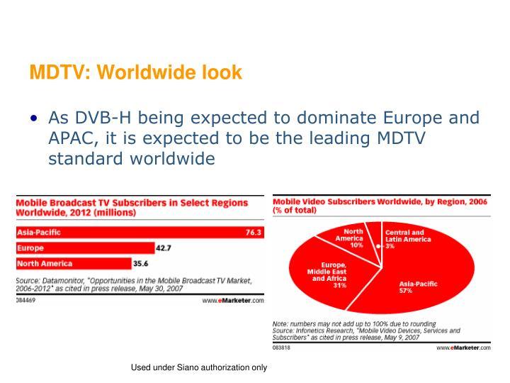 MDTV: Worldwide look