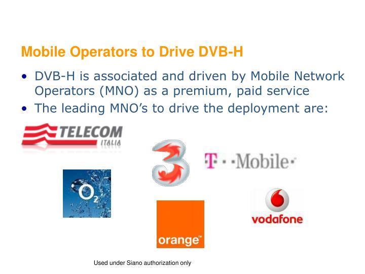 Mobile Operators to Drive DVB-H