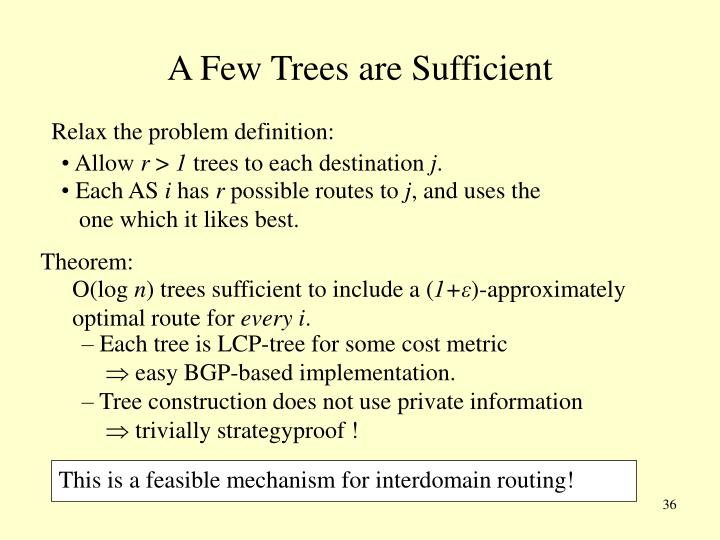 A Few Trees are Sufficient