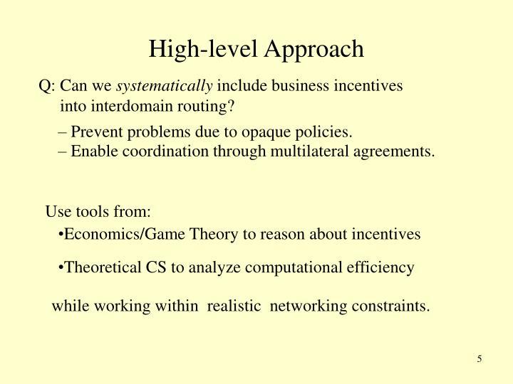 High-level Approach