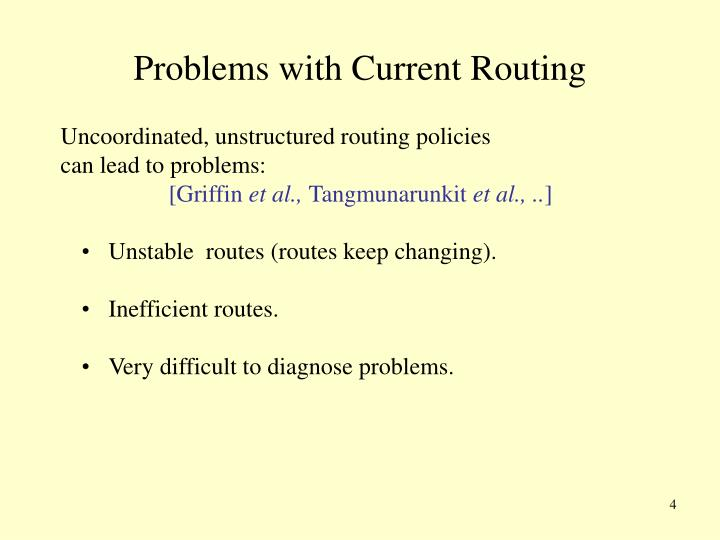 Problems with Current Routing