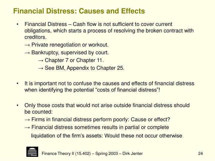 Financial Distress: Causes and Effects