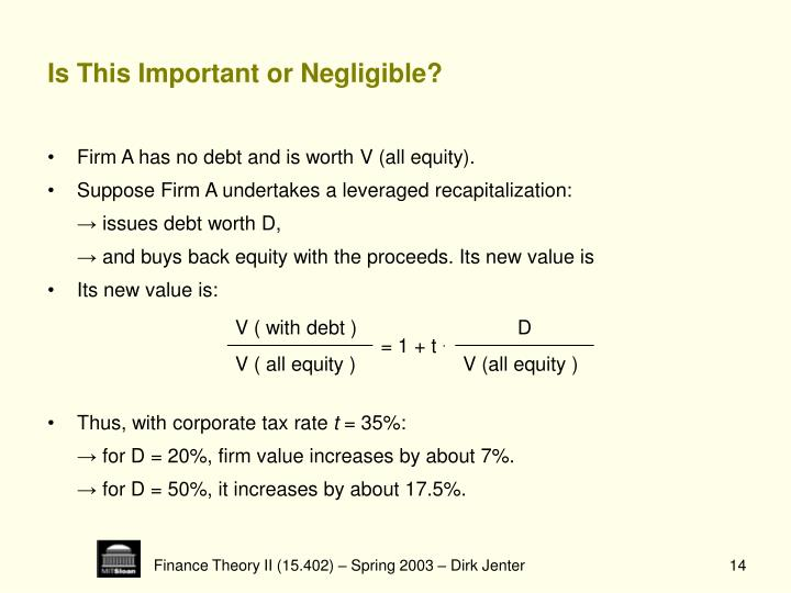 Is This Important or Negligible?