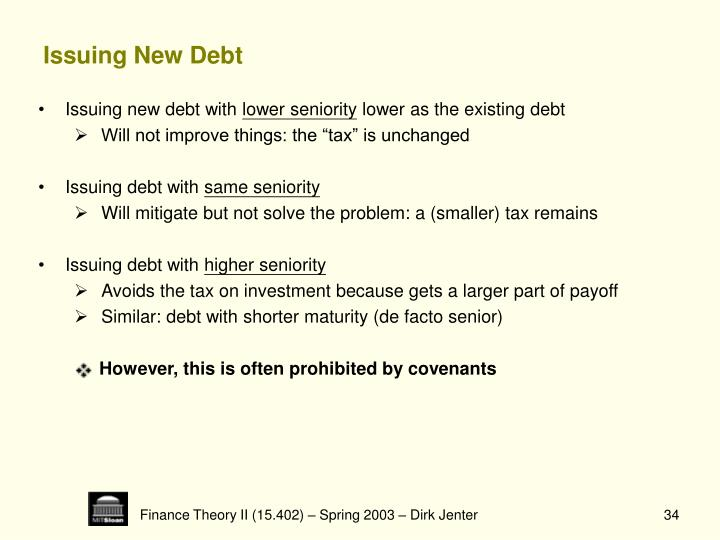 Issuing New Debt