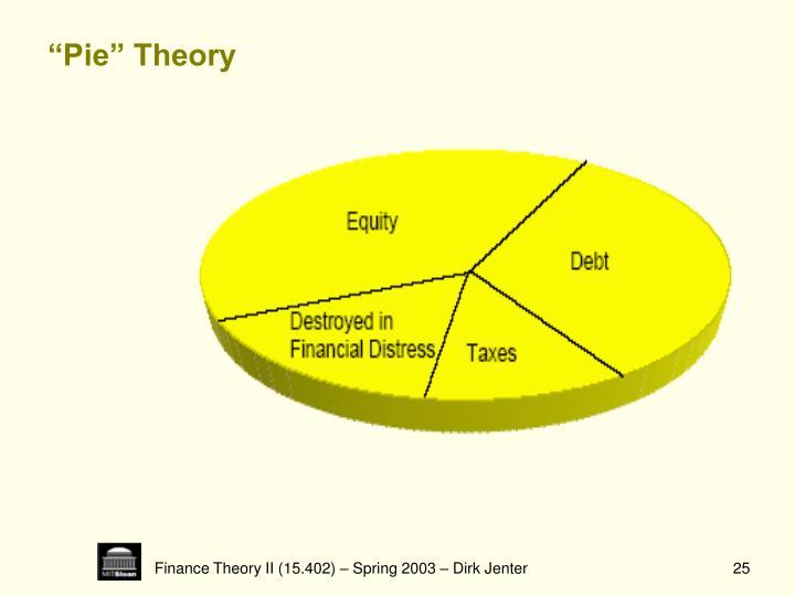 """""""Pie"""" Theory"""