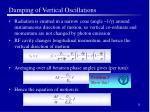 damping of vertical oscillations