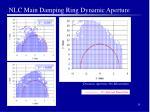 nlc main damping ring dynamic aperture