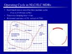 operating cycle in nlc jlc mdrs