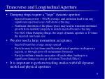 transverse and longitudinal aperture